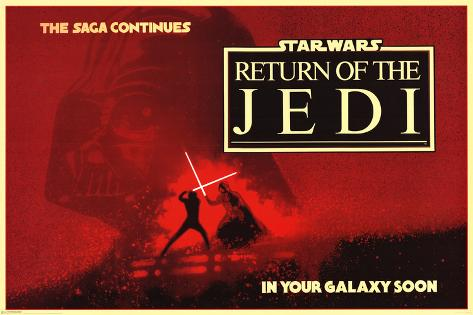 Star Wars - Return of the Jedi circles Stretched Canvas Print