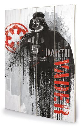 Star Wars Rogue One - Darth Vader Grunge Träskylt