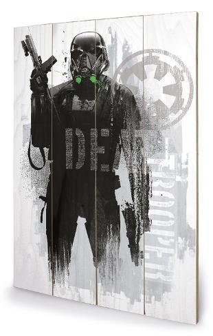 Star Wars Rogue One - Death Trooper Grunge Cartel de madera