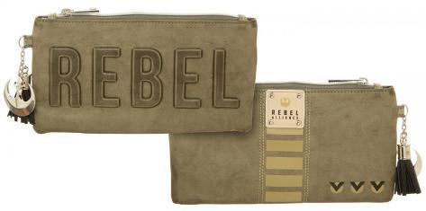 Star Wars Rogue One Rebel Debossed Clutch Zipper Pouch