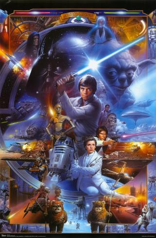 Star Wars - Saga Collage Framed Poster