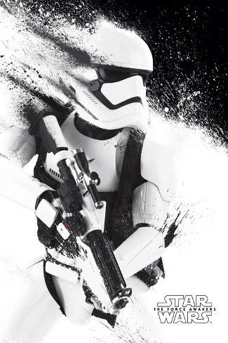 Star Wars- Stormtrooper Paint Póster