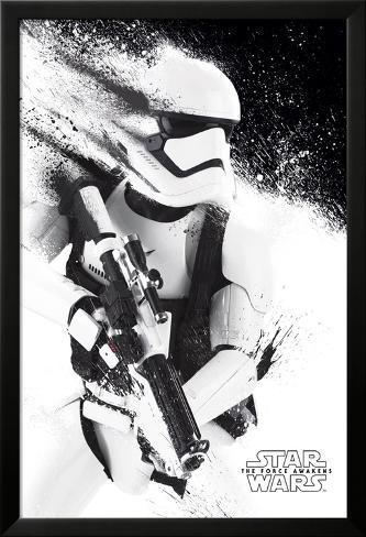 Star Wars- Stormtrooper Paint Lamina Framed Poster