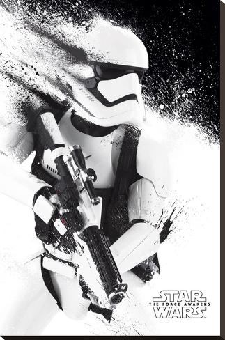 Star Wars- Stormtrooper Paint Stretched Canvas Print