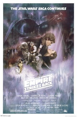 Star Wars: The Empire Strikes Back - The Saga Continues Movie Poster Poster
