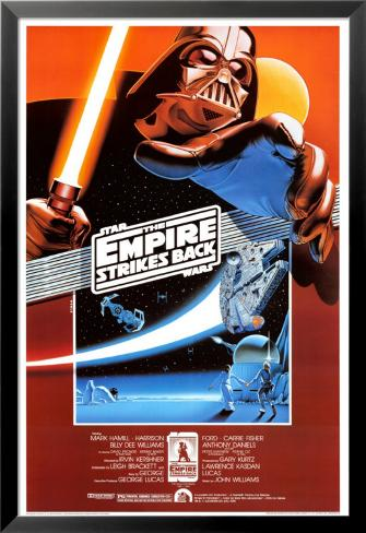 Star Wars- The Empire Strikes Back Lamina Framed Poster