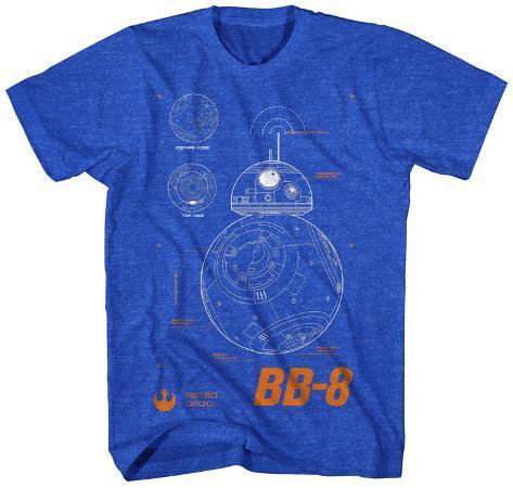 Star Wars The Force Awakens- BB-8 Plans Camiseta