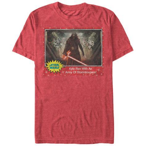 Star Wars The Force Awakens- Kylo Ren Army Trading Card Camiseta