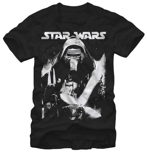 Star Wars The Force Awakens- Kylo Ren Black & White T-Shirt