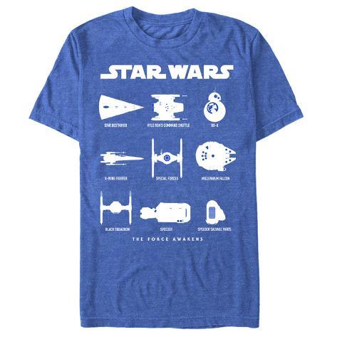 Star Wars The Force Awakens- Mech Chart T-Shirt