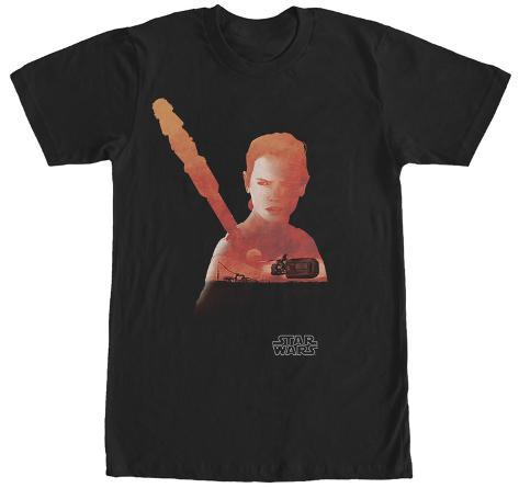 Star Wars The Force Awakens- Rey Silhouette T-Shirt
