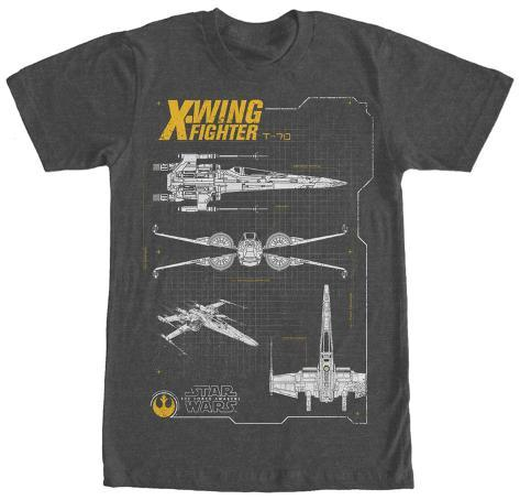 Star Wars The Force Awakens- T-70 X-Wing Schematics Camiseta