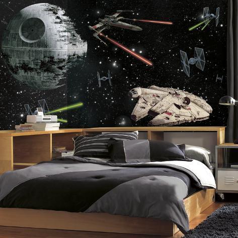Star Wars Vehicles XL Chair Rail Prepasted Mural Wallpaper Mural