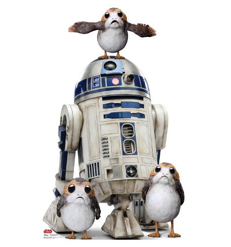 Star Wars VIII The Last Jedi - Porgs™ with R2-D2™ Cardboard Cutouts