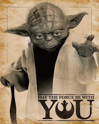 Star Wars- Yoda Force Quote Mini Poster