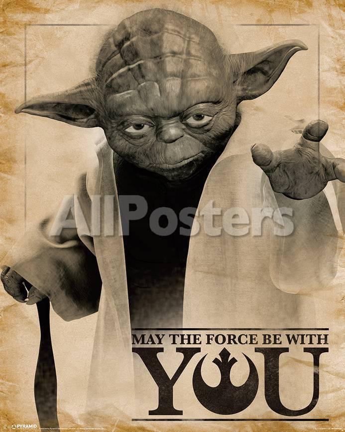 Star Wars- Yoda Force Quote Pósters en AllPosters.es