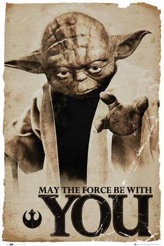 Star Wars Yoda - Que la fuerza te acompañe Póster
