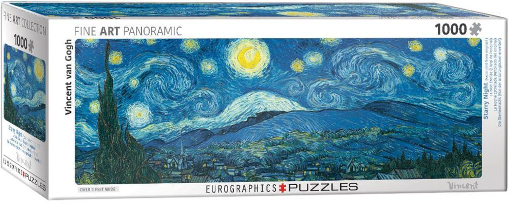 Starry Night Panorama by Vincent van Gogh 1000 Piece Puzzle Jigsaw ...
