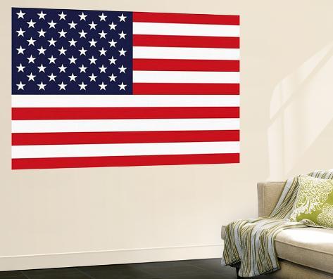 Stars and Stripes US Flag Mini Mural Huge Poster Print Wallpaper Mural