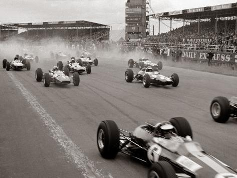 Start of the British Grand Prix at Siverstone, 1965 Photographic Print