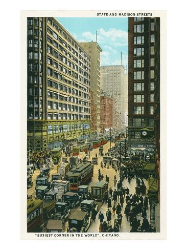 State and Madison, Chicago, Illiniois Art Print