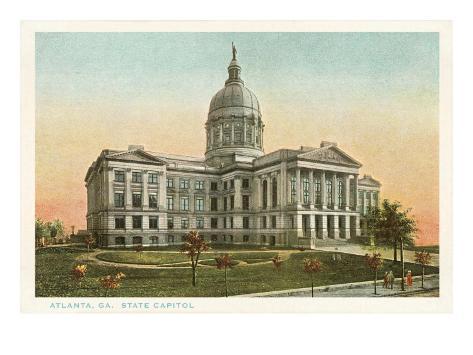 State Capitol, Atlanta, Georgia Art Print