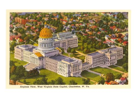 State Capitol, Charleston, West Virginia Art Print