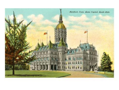 State Capitol, Hartford, Connecticut Art Print