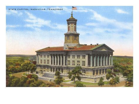 State Capitol, Nashville, Tennessee Art Print