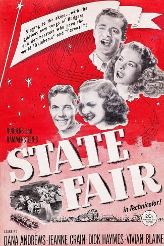 State Fair, from Top: Dana Andrews, Jeanne Crain, Vivian Blaine, Dick Haymes, 1945 Art Print