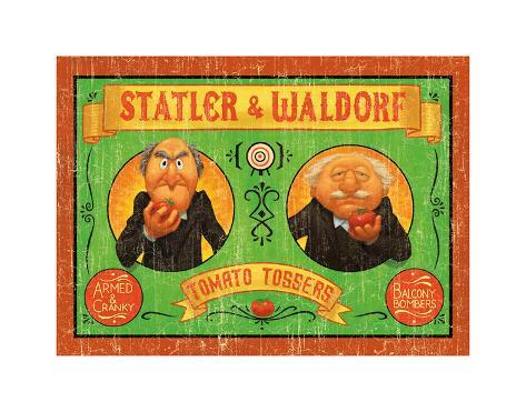 Statler & Waldorf: Armed & Cranky Art Print