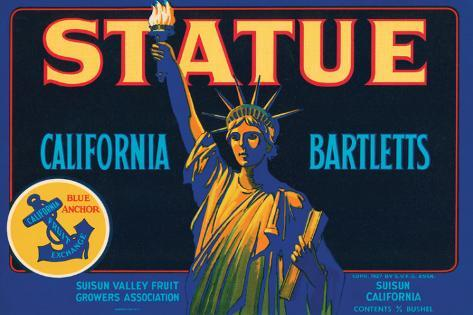 Statue California Bartletts Stretched Canvas Print