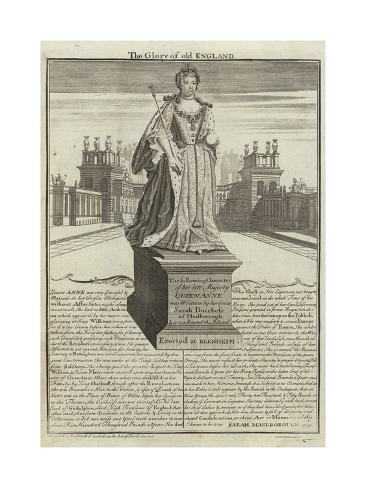 Statue of Anne, Queen of Great Britain Giclee Print
