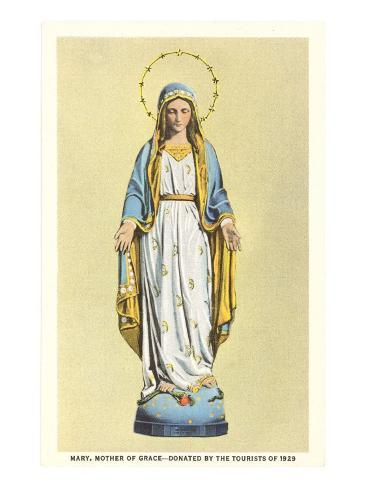 Statue of Virgin Mary Art Print