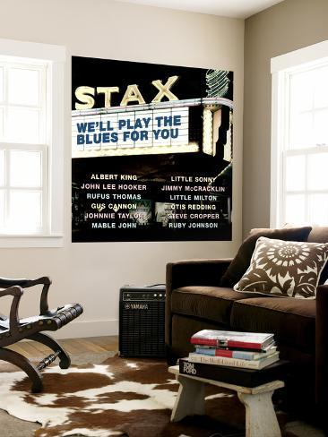 Stax We'll Play the Blues for You Wall Mural