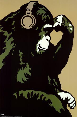 Monkey Thinker Poster