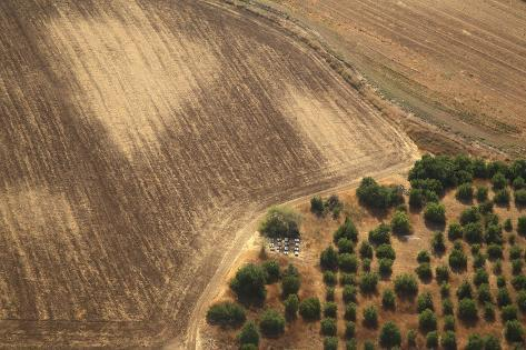 Landscape from above between Tel Aviv and Jerusalem. Photographic Print