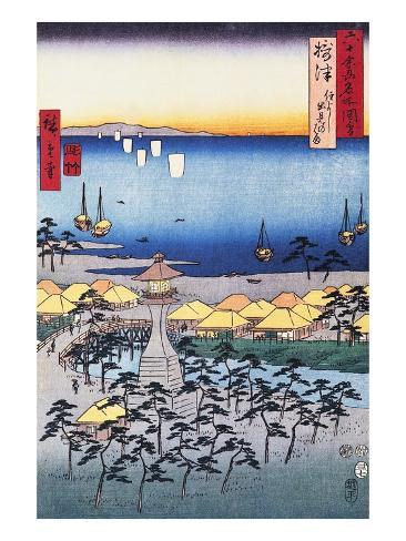 Print of Coastal Scene by Hiroshige Giclee Print