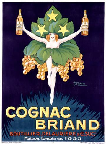 Cognac Briand Giclee Print