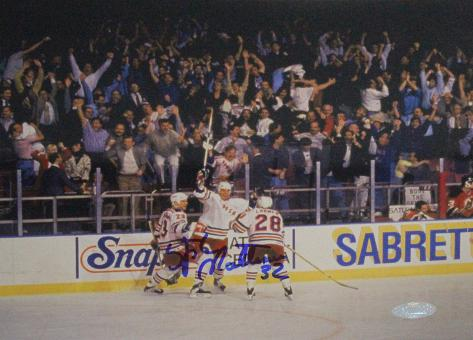 Stephane Matteau Game 7 GWG Celebration Autographed Photo (Hand Signed Collectable) Photo