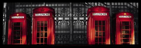 Red Telephone Boxes, London Art Print