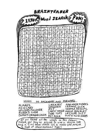 The Brainteaser Word Search - New Yorker Cartoon Premium-giclée-vedos