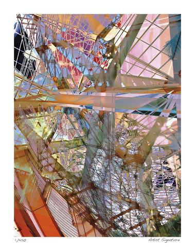 Steel and Glass Meld Giclee Print
