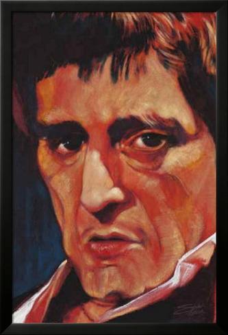 Stephen Fishwick Pacino Art Print Poster Lamina Framed Poster
