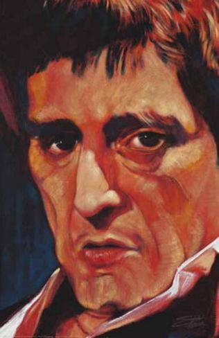 Stephen Fishwick Pacino Art Print Poster キャンバスプリント