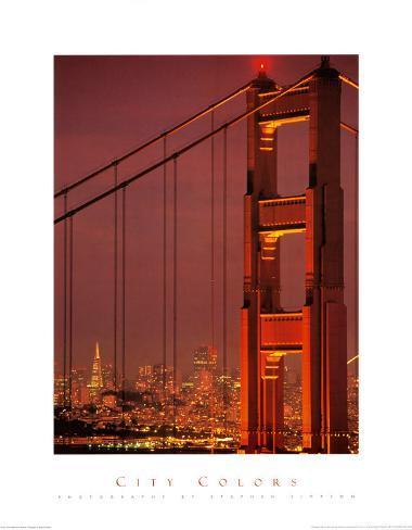 City Colors, San Francisco Bridge Art Print