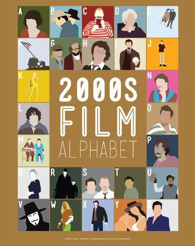2000s Film Alphabet - A to Z Art Print