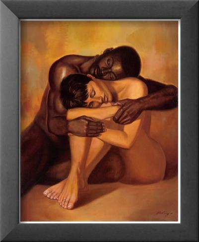 Tenderness Lamina Framed Art Print