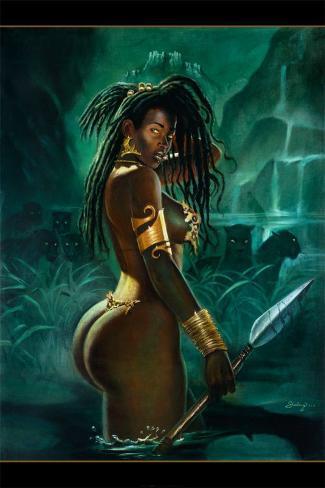 Warrior Konstprint