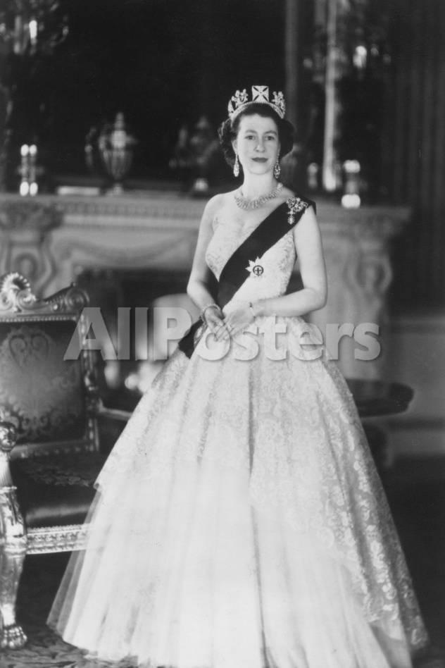 HM Queen Elizabeth II at Buckingham Palace, 12th March 1953 ...